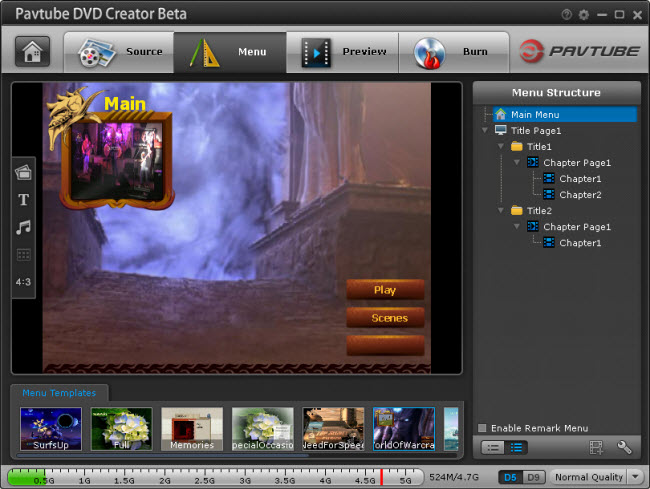 dvd creator menu How to Convert and Burn Canon Video to DVD