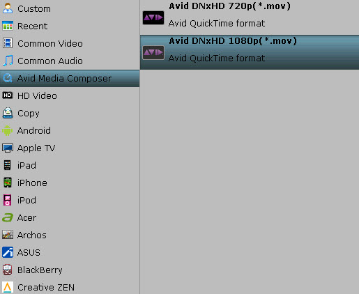 best settings for avid 720p Convert Panasonic Lumix DMC ZS7 AVCHD Lite MTS Videos to AVI/WMV/MPEG 2/MOV for editing